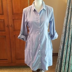 Fashion Nova shirt dress with side laces, NWT